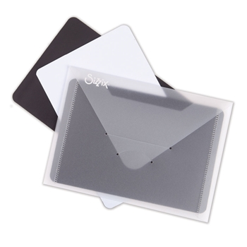 Sizzix PLASTIC ENVELOPE WITH MAGNETIC SHEETS 3 Pack 662870