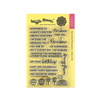 Waffle Flower RAINBOWS Clear Stamp Set 271176