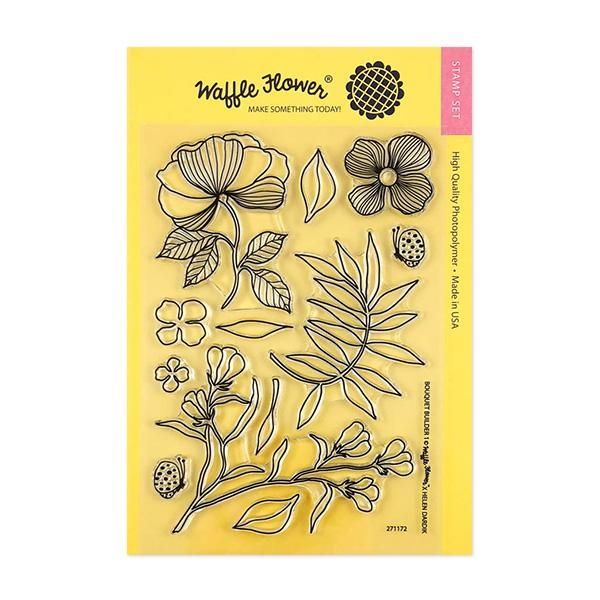 Waffle Flower BOUQUET BUILDER 1 Clear Stamp Set 271172 zoom image