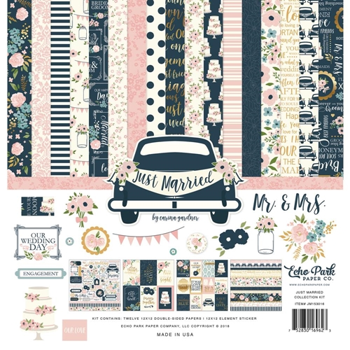 Echo Park JUST MARRIED 12 x 12 Collection Kit jm153016 Preview Image