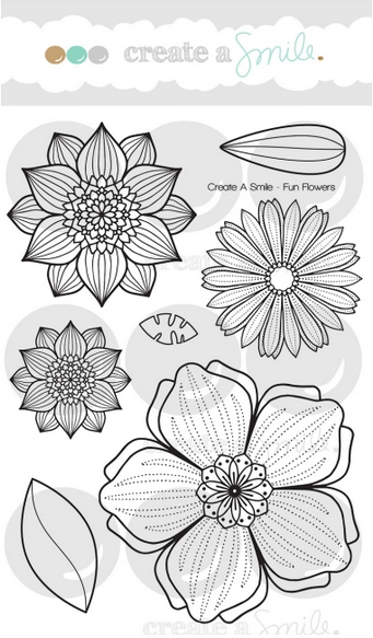 Create A Smile FUN FLOWERS Clear Stamps clcs73* zoom image