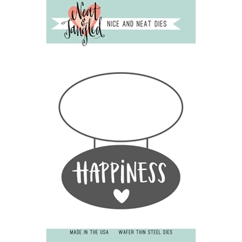 Neat and Tangled HAPPINESS Die Set NAT366*