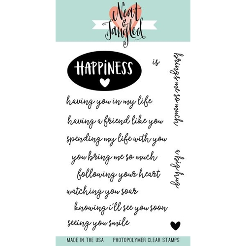 Neat and Tangled HAPPINESS Clear Stamp Set NAT365 Preview Image