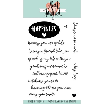 Neat and Tangled HAPPINESS Clear Stamp Set NAT365