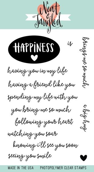 Neat and Tangled HAPPINESS Clear Stamp Set NAT365 zoom image