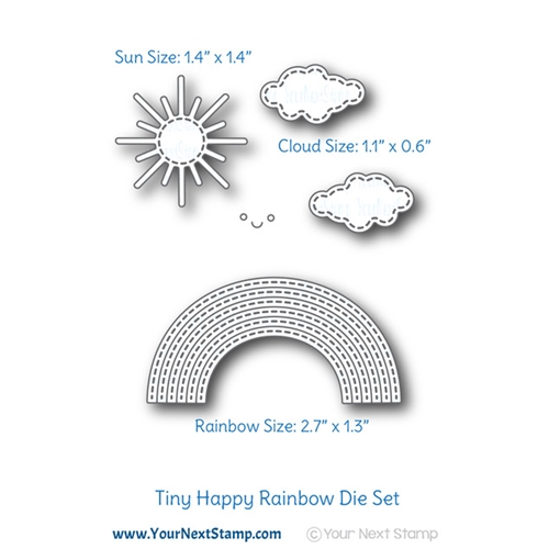 Your Next Die STITCHED HAPPY RAINBOW ynsd736 Preview Image
