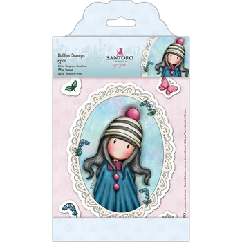 DoCrafts POM-POM Cling Stamps Gorjuss London go907220*