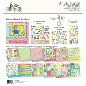 Simple Stories HELLO SUMMER 12 x 12 Collector's Essential Kit 10156*