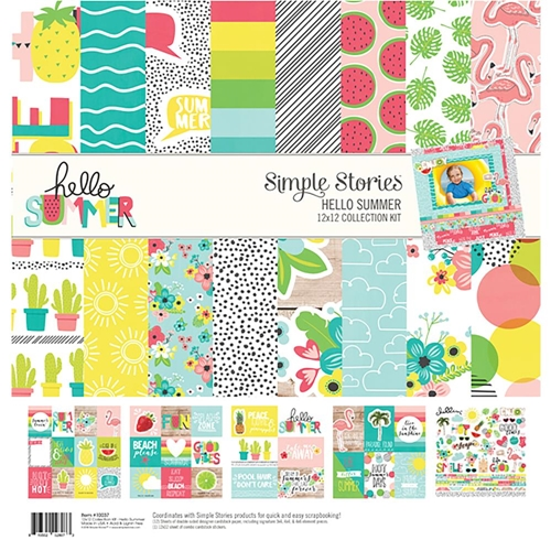 Simple Stories HELLO SUMMER 12 x 12 Collection Kit 10137* Preview Image