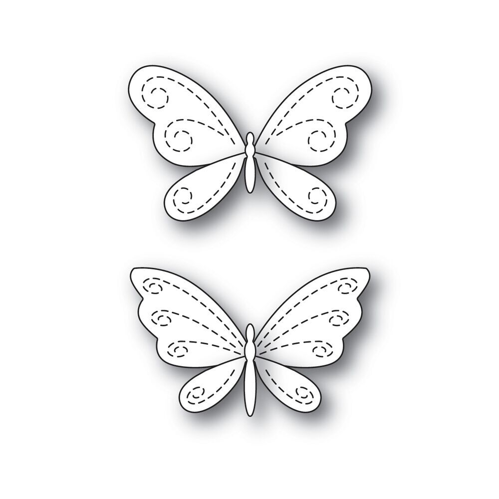 Simon Says Stamp STITCHING BUTTERFLIES Wafer Dies s546 Fluttering By zoom image
