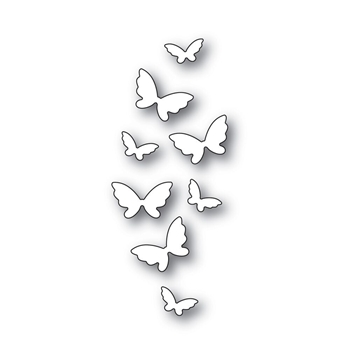 Simon Says Stamp FLICKERING BUTTERFLIES Wafer Dies s541 Fluttering By