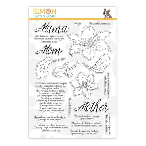 Simon Says Clear Stamps MOM'S CLEMATIS sss201860 * Preview Image