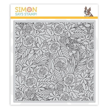 Simon Says Cling Rubber Stamp FLOWER EXPLOSION SSS101835 *