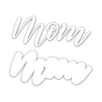 Simon Says Stamp SCRIPT MOM Shadow Wafer Dies sssd111826