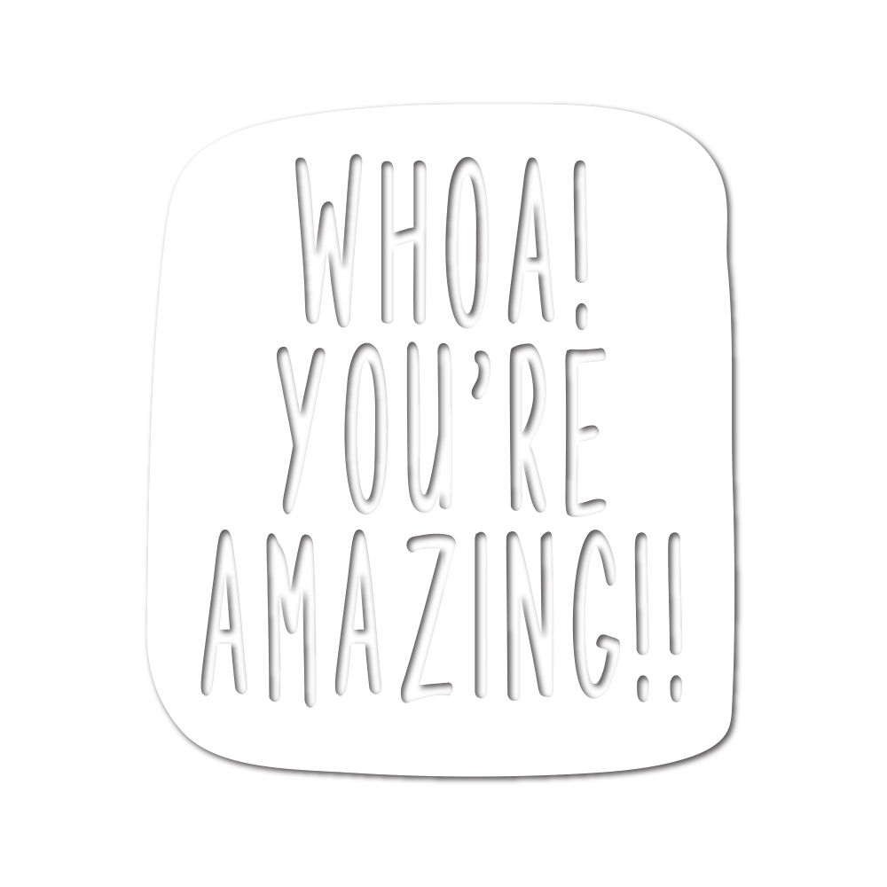 Simon Says Stamp WHOA! YOU'RE AMAZING Wafer Dies sssd111810 Fluttering By zoom image