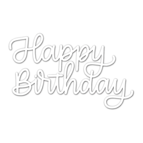 Simon Says Stamp HAPPY BIRTHDAY SCRIPT Wafer Dies sssd111785 Fluttering By Preview Image