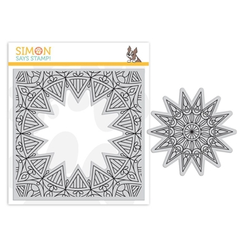 Simon Says Cling Rubber Stamp CENTER CUT BURST sss101857 Fluttering By