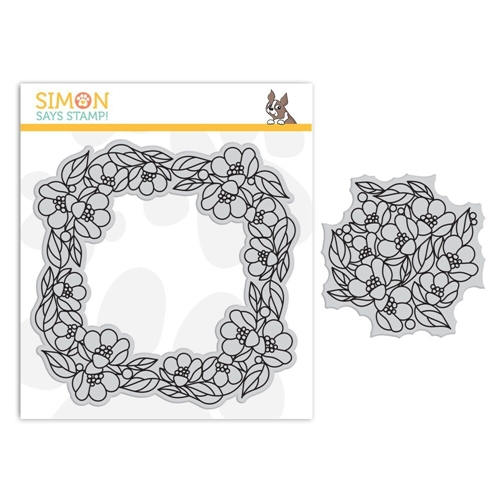 Simon Says Cling Rubber Stamp CENTER CUT FLOWERS Background sss101841 Fluttering By Preview Image