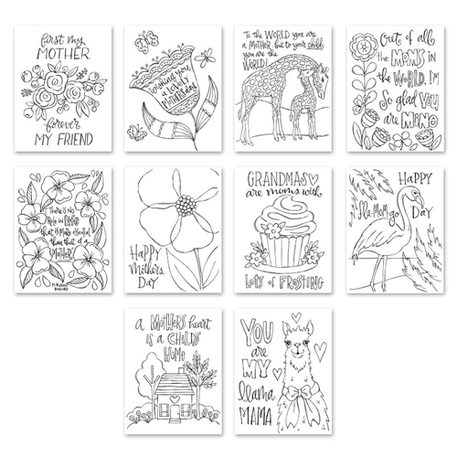Simon Says Stamp Suzy's MOTHERS DAY Watercolor Prints szwcm18 Preview Image