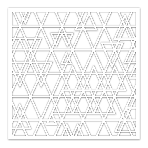 Simon Says Stamp Stencil ABSTRACT TRIANGLE ssst121422 Fluttering By Preview Image