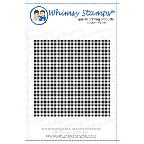 Whimsy Stamps GINGHAM Background Cling Stamp ddb0005 Preview Image