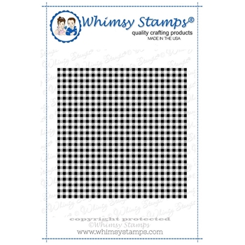 Whimsy Stamps GINGHAM Background Cling Stamp ddb0005
