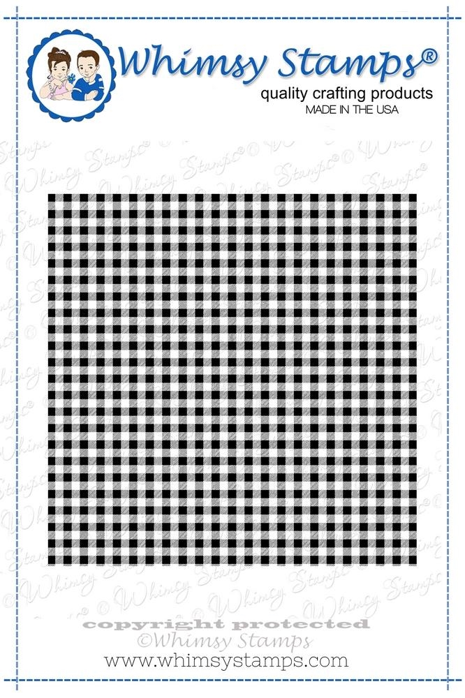 Whimsy Stamps GINGHAM Background Cling Stamp ddb0005 zoom image
