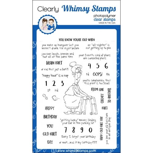 Whimsy Stamps OLD FART Clear Stamps cwsd165 Preview Image