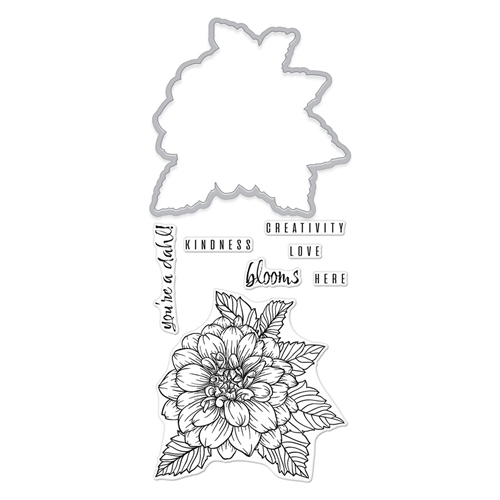 Hero Arts Florals Stamp And Cuts DAHLIA Coordinating Set DC234 Preview Image