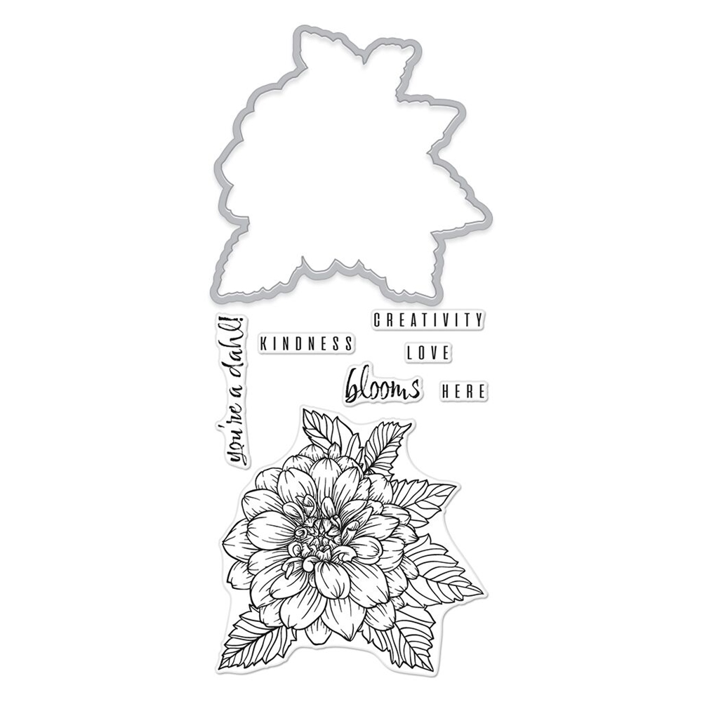 Hero Arts Florals Stamp And Cuts DAHLIA Coordinating Set DC234 zoom image