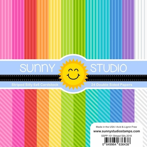 Sunny Studio STRIPED SILLY Paper Pad SSPP-101 Preview Image