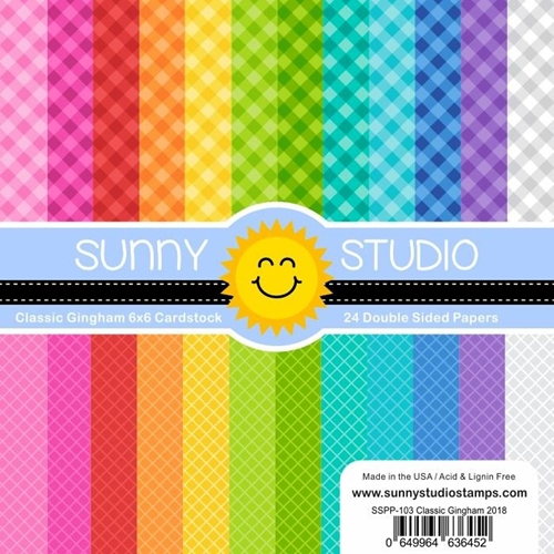 Sunny Studio CLASSIC GINGHAM Paper Pad SSPP-103 Preview Image