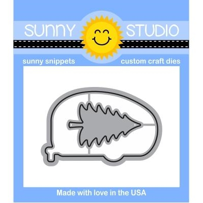 Sunny Studio HAPPY CAMPER Snippets Die SunnySS-094 Preview Image