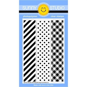 Sunny Studio BACKGROUND BASICS Clear Stamp Set SSCL-197