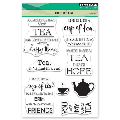 Penny Black Clear Stamps CUP OF TEA 30 482 zoom image
