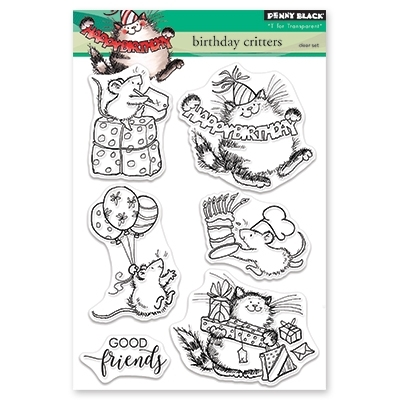 Penny Black Clear Stamps BIRTHDAY CRITTERS 30 466 zoom image