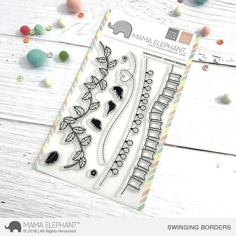 Mama Elephant Clear Stamp SWINGING BORDERS  Preview Image