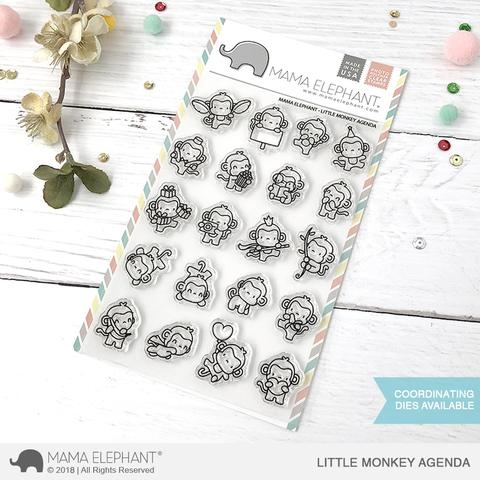 Mama Elephant Clear Stamp LITTLE MONKEY AGENDA Preview Image