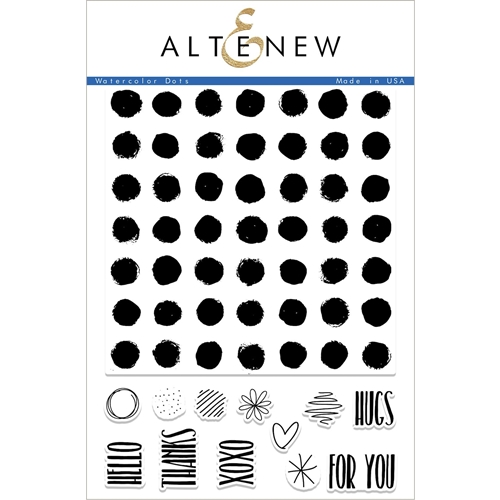 Altenew WATERCOLOR DOTS Clear Stamp Set ALT2240 Preview Image