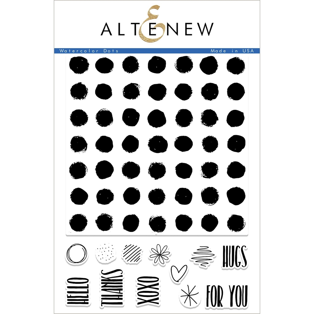 Altenew WATERCOLOR DOTS Clear Stamp Set ALT2240 zoom image