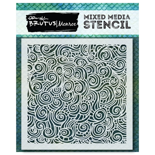 Brutus Monroe MERMAID LAGOON TANGLED WAVES Stencil bru9639 Preview Image