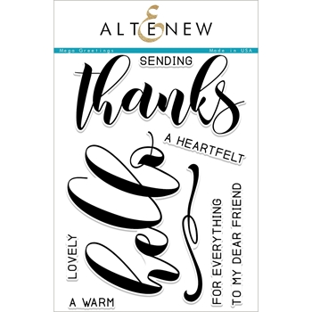 Altenew MEGA GREETINGS Clear Stamp Set ALT2229