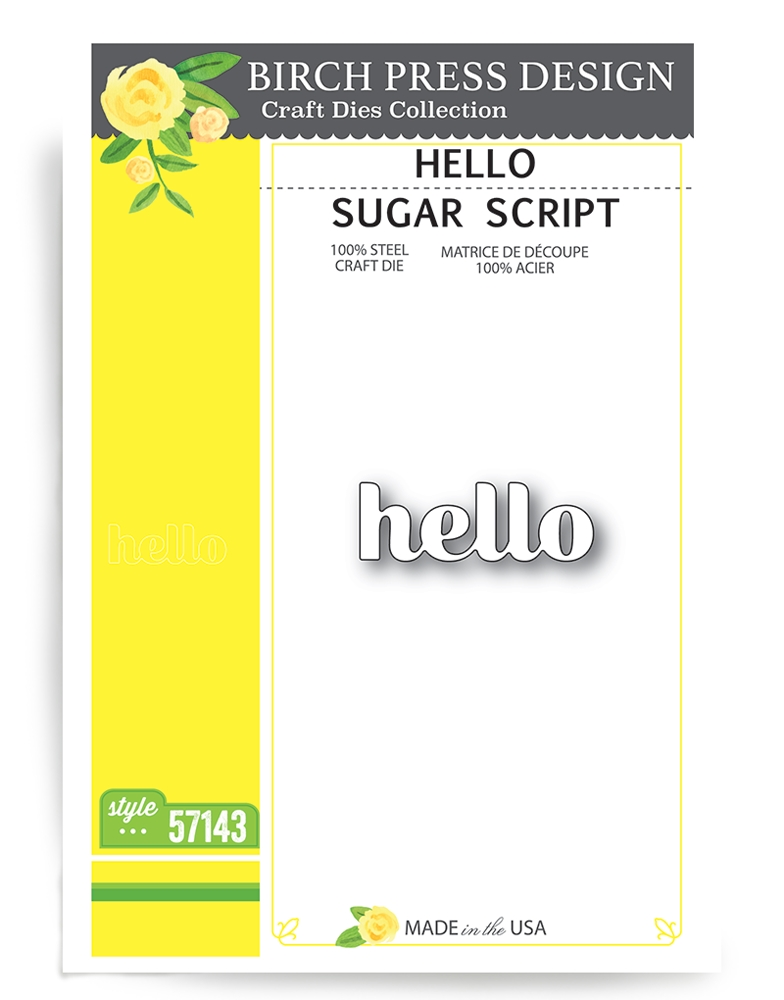 Birch Press Design HELLO SUGAR SCRIPT Craft Dies 57143 zoom image
