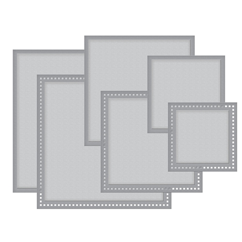 S4-929 Spellbinders HEMSTITCH SQUARES Etched Dies Romancing the Swirl Becca Feeken Preview Image