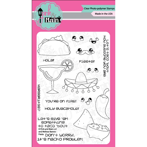 Pink and Main FIESTA Clear Stamp Set PM0275 Preview Image