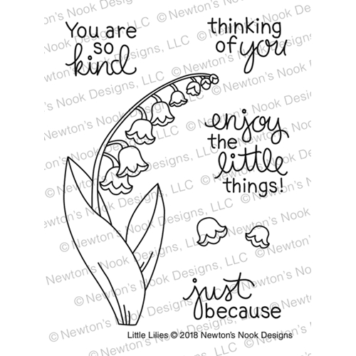 Newton's Nook Designs LITTLE LILIES Clear Stamp Set NN1804S04 Preview Image
