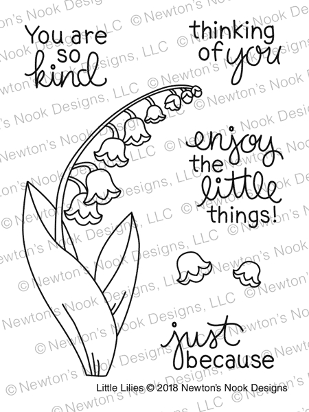 Newton's Nook Designs LITTLE LILIES Clear Stamp Set NN1804S04 zoom image