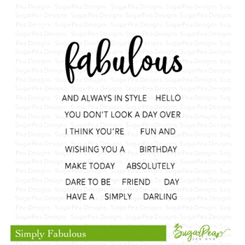 SugarPea Designs SIMPLY FABULOUS Clear Stamp Set spd-00284*
