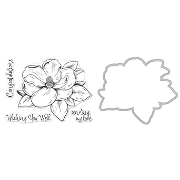 Hero Arts FLORALS MAGNOLIA Clear Stamp and Die Combo SB193