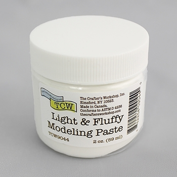 The Crafter's Workshop LIGHT AND FLUFFY MODELING PASTE 2oz tcw9044